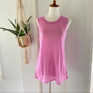 CHASER Sleeveless Top Low Back Pink NWT